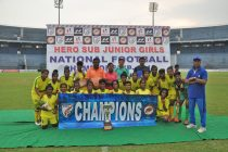 2019 Hero Sub Junior Girls' National Football Championship winners Jharkhand. (Photo courtesy: AIFF Media)