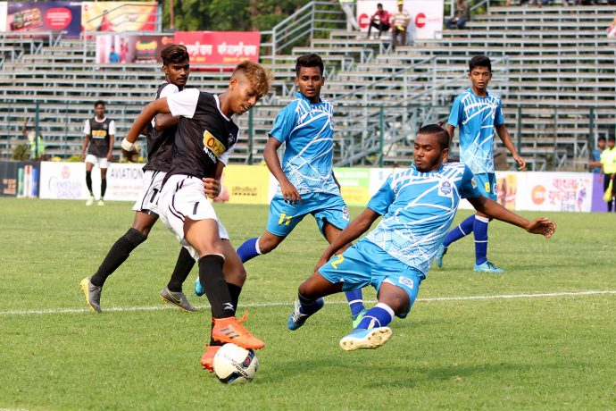 Zee Bangla Football League (U-19) match action between Mohammedan Sporting Club U-19 and Purbo Medinipur Fighters. (Photo courtesy: Mohammedan Sporting Club)