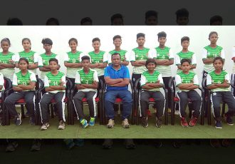 The Odisha Sub-Junior State Girl's team for the Sub-Junior Girl's National Football Championship 2019. (Photo courtesy: Football Association of Odisha)