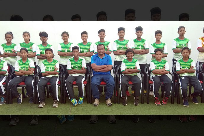 The Odisha Sub-Junior State Girl's team for the Sub-Junior Girl's National Football Championship 2019. (Photo courtesy: Football Association of Odisha)