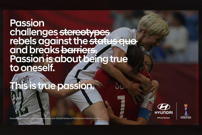 Hyundai Motor energizes 'True Passion' at FIFA Women's World Cup France 2019. (Image courtesy: Hyundai Motor)