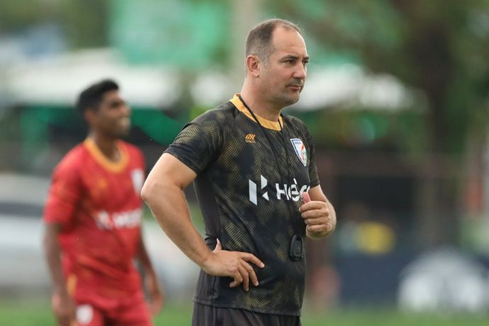 Indian national team head coach Igor Štimac during a training session. (Photo courtesy: AIFF Media)