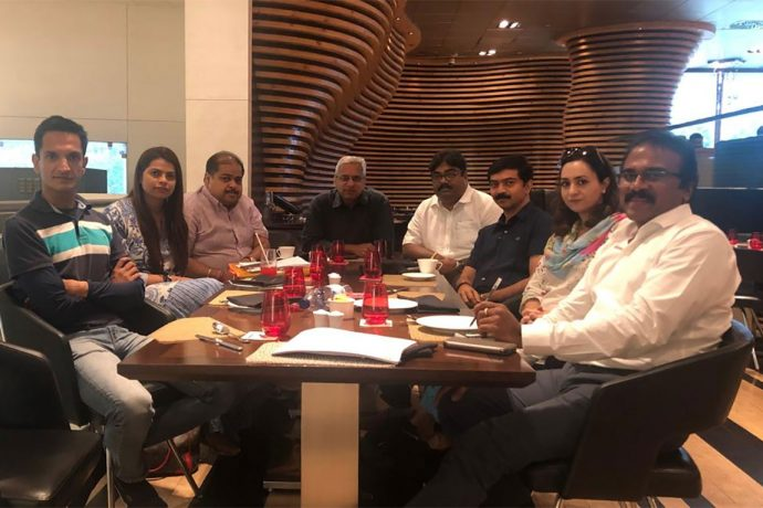 Representatives of I-League clubs during a meeting in New Delhi on June 24, 2019. (Photo courtesy: I-League clubs)