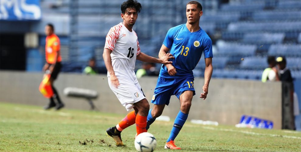 King's Cup 2019 match action between the national teams of India and Curaçao. (Photo courtesy: AIFF Media)
