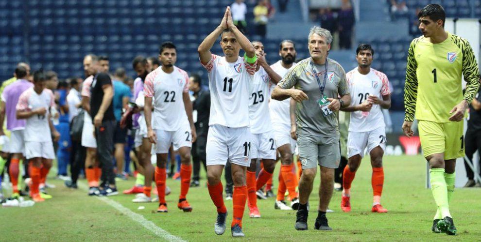 Indian national team captain Sunil Chhetri. (Photo courtesy: AIFF Media)
