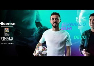 """Portuguese professional football star Bernardo Silva and footballing legend Deco will be invited to join Hisense """"Skills Brought to Life"""" campaign. (Image courtesy: Hisense)"""