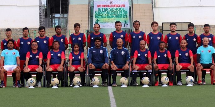 Participants of the AIFF Grassroots Leaders Course hosted by Shillong Lajong FC under the aegis of the Meghalaya Football Association. (Photo courtesy: AIFF Media)