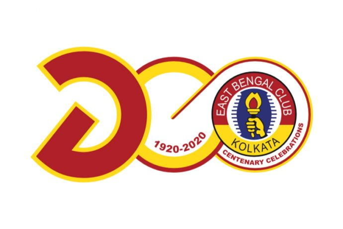 1920 - 2020: The centenary logo of East Bengal Club.