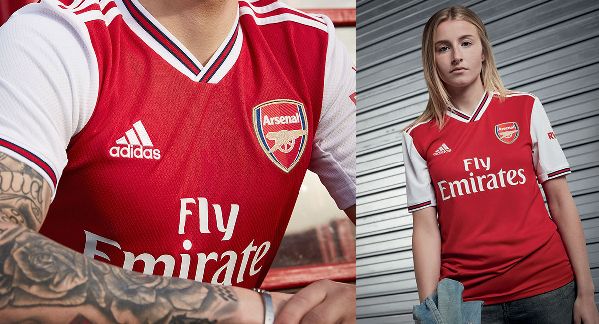 official photos 32e28 097e4 adidas and Arsenal launch new partnership with 2019/20 home ...
