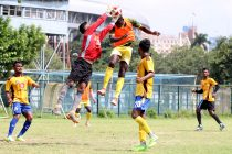 Match action between Mohammedan Sporting Club and Aryan Club in a friendly match on July 22, 2019. (Photo courtesy: Mohammedan Sporting Club)