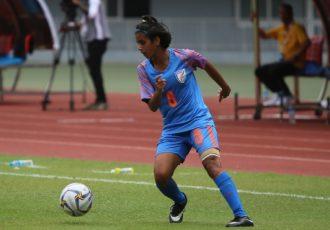 India Women's national team winger Sanju Yadav. (Photo courtesy: AIFF Media)