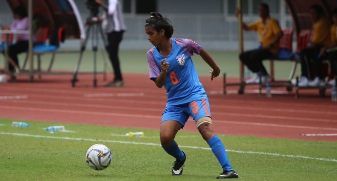 India Women's national team winger Sanju Yadav. (Photo courtesy: AIFF Media)