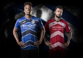 The new Arminia Bielefeld home and away kits for the 2019/20 Bundesliga 2 season. (Photo courtesy: www.sport-vision-pro.de)