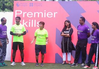 Launch of the Premier Skills Community Football Coaching Program organised by the British Council of India in association with the Football Association of Odisha (FAO) in Cuttack. (Photo courtesy: Football Association of Odisha)