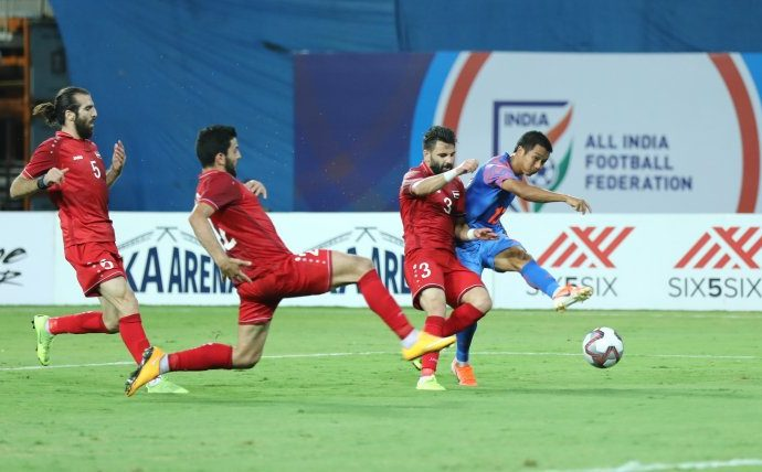 Hero Intercontinental Cup 2019 match action between India and Syria. (Photo courtesy: AIFF Media)