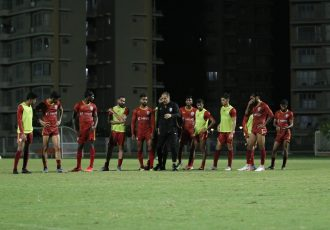 Indian national team training session in Mumbai. (Photo courtesy: AIFF Media)