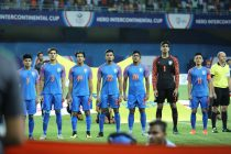 The Indian national team at the Hero Intercontinental Cup 2019. (Photo courtesy: AIFF Media)