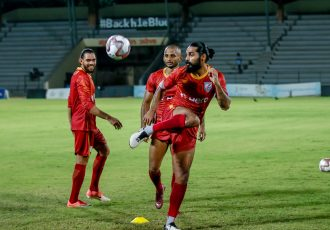 Indian national team defender Sandesh Jhingan during a training session. (Photo courtesy: AIFF Media)