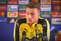 Marco Reus during a Borussia Dortmund press conference.