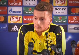 Marco Reus during a Borussia Dortmund press conference.