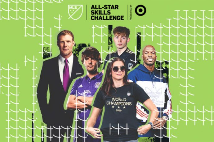 The panel of judges for the MLS All-Star Skills Challenge presented by Target. (Image courtesy: Major League Soccer)