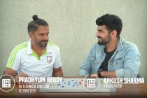 Pradhyum Reddy and Ankush Sharma discussing the changes in the Indian national team. (Photo courtesy: Superpower Football - Screenshot)