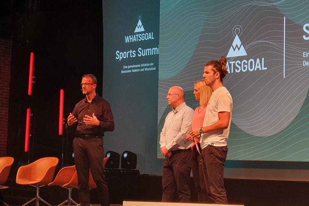 Fredi Bobic (Director of Sports, Eintracht Frankfurt), Mario Leo (Founder & CEO, Result Sports), Ruth Hofmann and Riccardo Basile. (© CPD Football)
