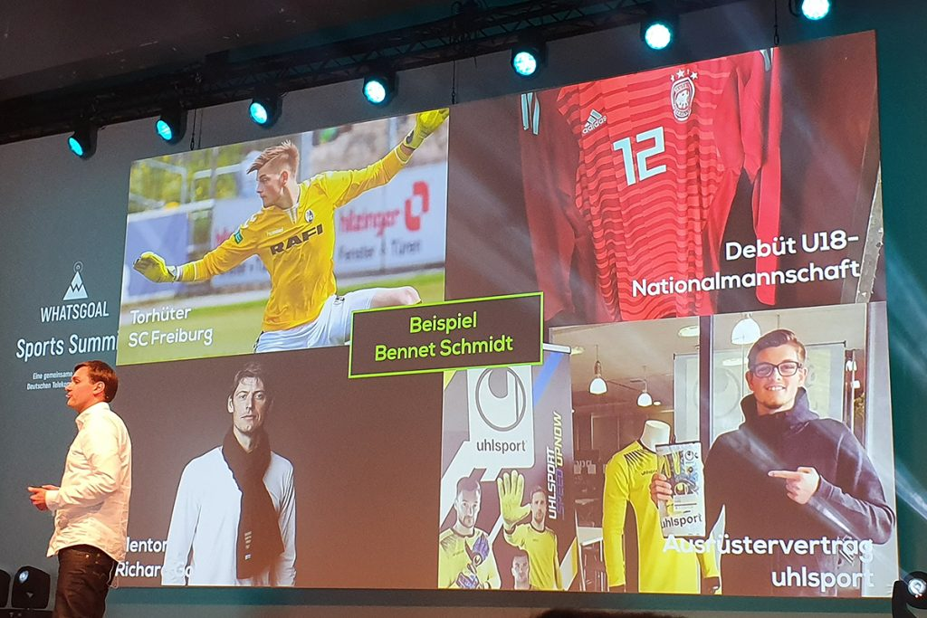 Dr. Stefan Göke (Founder, GOKIXX) explaining the relevance of smartphones to the next generation of professional footballers. (© CPD Football)