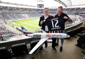 Eintracht Frankfurt board member Axel Hellmann and SunExpress CEO Jens Bischof. (Photo courtesy: SunExpress)