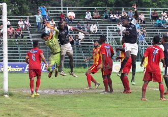 Calcutta Premier Division 'A' match action between Mohammedan Sporting Club and Rainbow AC. (Photo courtesy: Mohammedan Sporting Club)