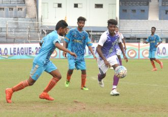 FAO League 2019 match action between Club N Club and Town Club. (Photo courtesy: Football Association of Odisha)