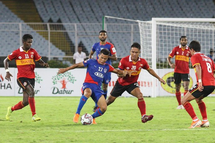 Durand Cup 2019 match action between East Bengal FC and Bengaluru FC 'B'. (Photo courtesy: Bengaluru FC)