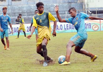 FAO League 2019 match action between Independent Club and Town Club. (Photo courtesy: Football Association of Odisha)