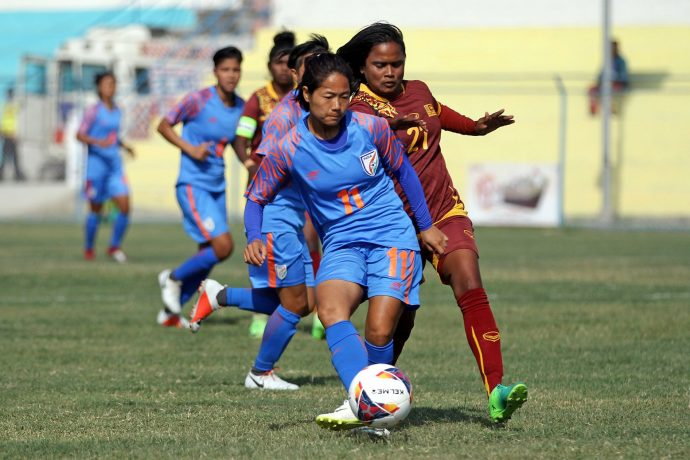 Indian Women's national team star Dangmei Grace. (Photo courtesy: AIFF Media)