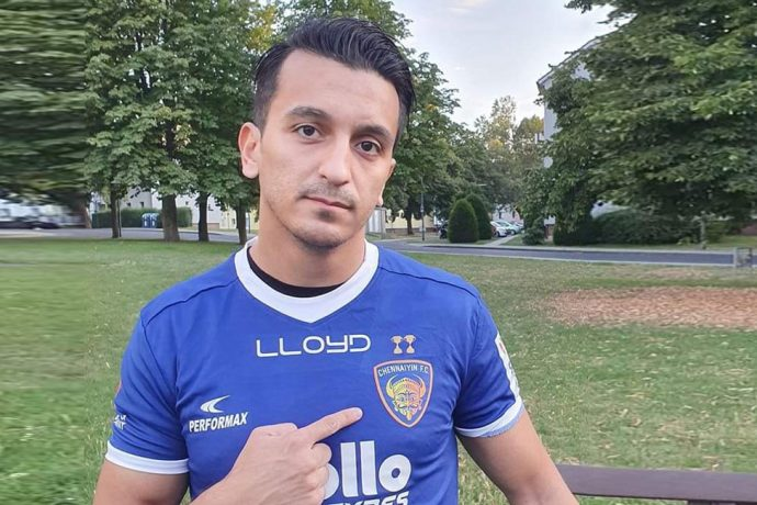 Chennaiyin FC defensive midfielder Masih Saighani. (Photo courtesy: Chennaiyin FC)