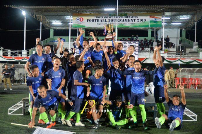 NEXA Independence Day Football Tournament 2019 champions Electric Veng FC. (Photo courtesy: Mizoram Football Association / PC Lala Photography)