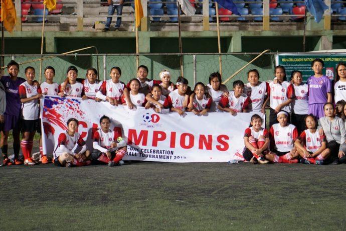 2019 Independence Day Celebration Women's Football Tournament champions Vakiria FC. (Photo courtesy: Mizoram Football Association)