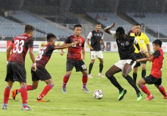 Durdan Cup 2019 match action between Mohammedan Sporting Club and ATK. (Photo courtesy: Mohammedan Sporting Club)