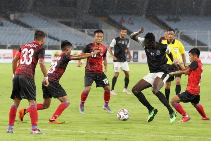 Durdan Cup 2019 match action between Mohammedan Sporting Club and ATK. (Photo courtesy: Mohammedan Sporting Club)