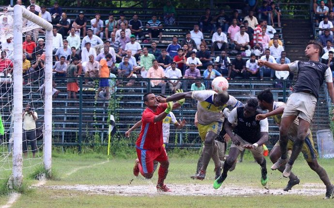 Calcutta Premier Division 'A' match action between Mohammedan Sporting Club and George Telegraph SC. (Photo courtesy: Mohammedan Sporting Club)