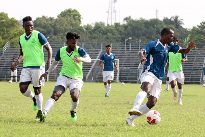 Mohammedan Sporting Club training session in Kolkata. (Photo courtesy: Mohammedan Sporting Club)