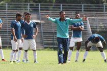 Mohammedan Sporting Club head coach Subrata Bhattacharya during a training session. (Photo courtesy: Mohammedan Sporting Club)