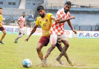2019 FAO League match action between Odisha Police and Radha Raman Club. (Photo courtesy: Football Association of Odisha)