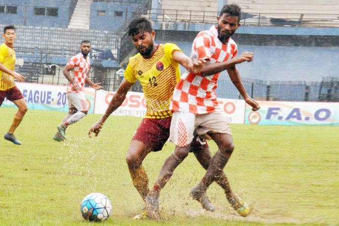 2019 FAO League match action between Odisha Police and Radha Raman Club. (Photo courtesy: Football Association of Odisha)