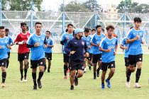 Bengaluru FC 'B' Team training session at the Salt Lake Stadium Training Grounds in Kolkata. (Photo courtesy: Bengaluru FC)