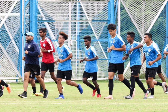 Bengaluru FC 'B' Team training session. (Photo courtesy: Bengaluru FC)