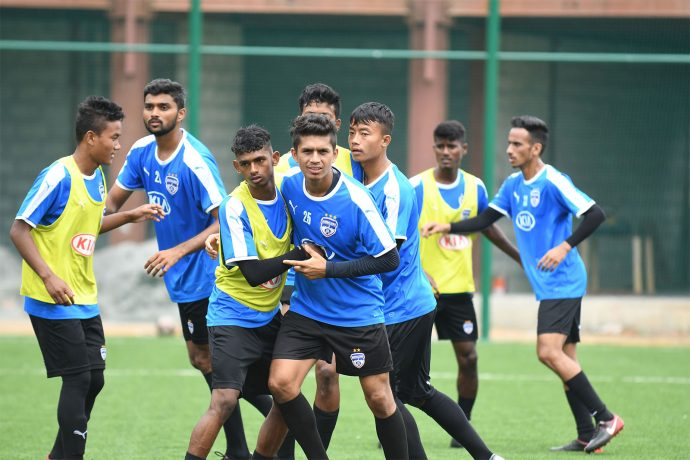 Bengaluru FC 'B' team training session. (Photo courtesy: Bengaluru FC)