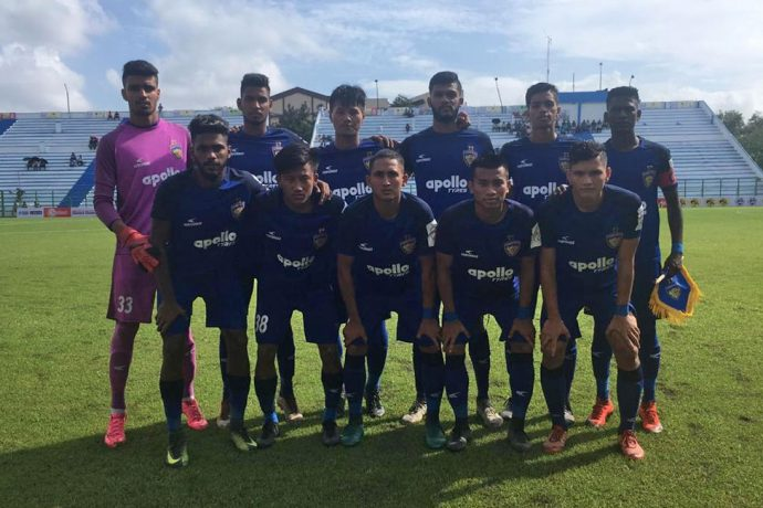 The Chennaiyin FC B Team at the Durand Cup 2019. (Photo courtesy: Chennaiyin FC)