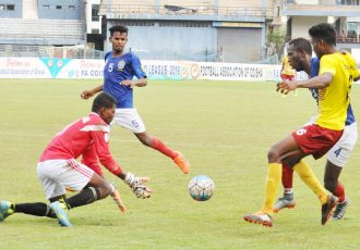 FAO League 2019 match action between Odisha Police and Jay Durga Club. (Photo courtesy: Football Association of Odisha)