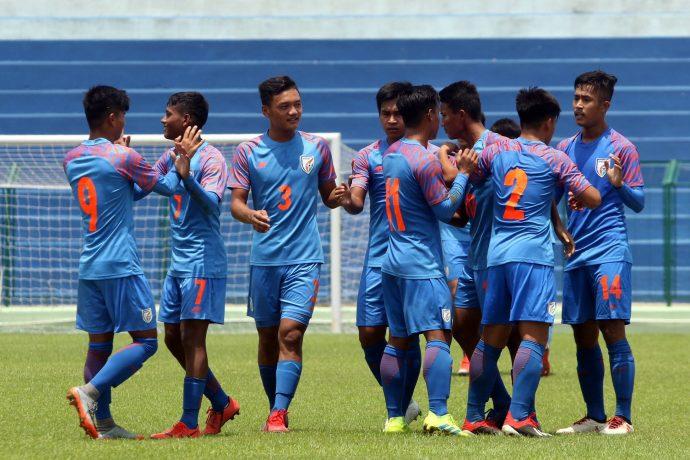 The India U-15 national team at the SAFF U-15 Championship 2019. (Photo courtesy: AIFF Media)